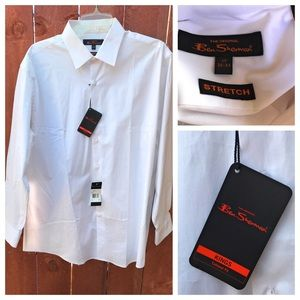 Ben Sherman Stretch Kings Fit Dress Shirt NWT